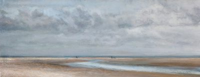Figures on Holkham Beach (20cm x 51cm)
