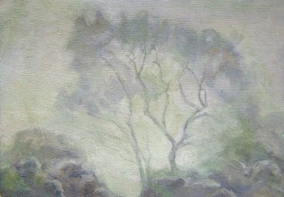 Tree in the Mist Sketch (14cm x 20 cm)