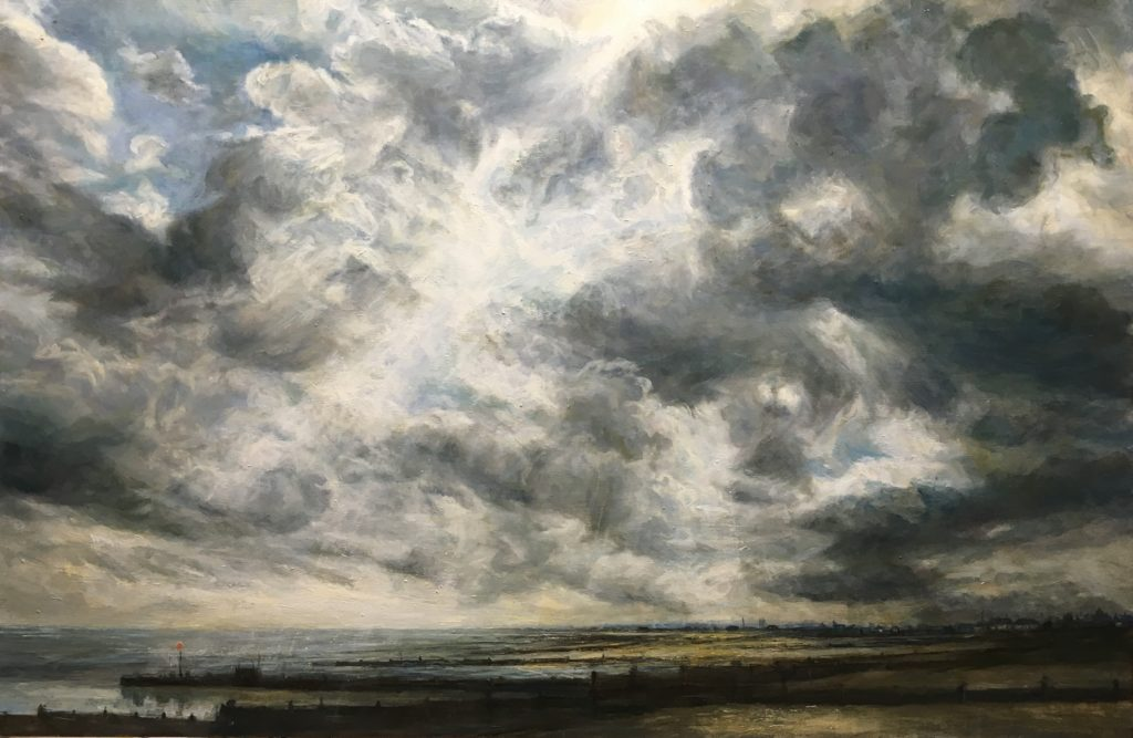Looking into the Sun, Whitstable, 92 x 65cm
