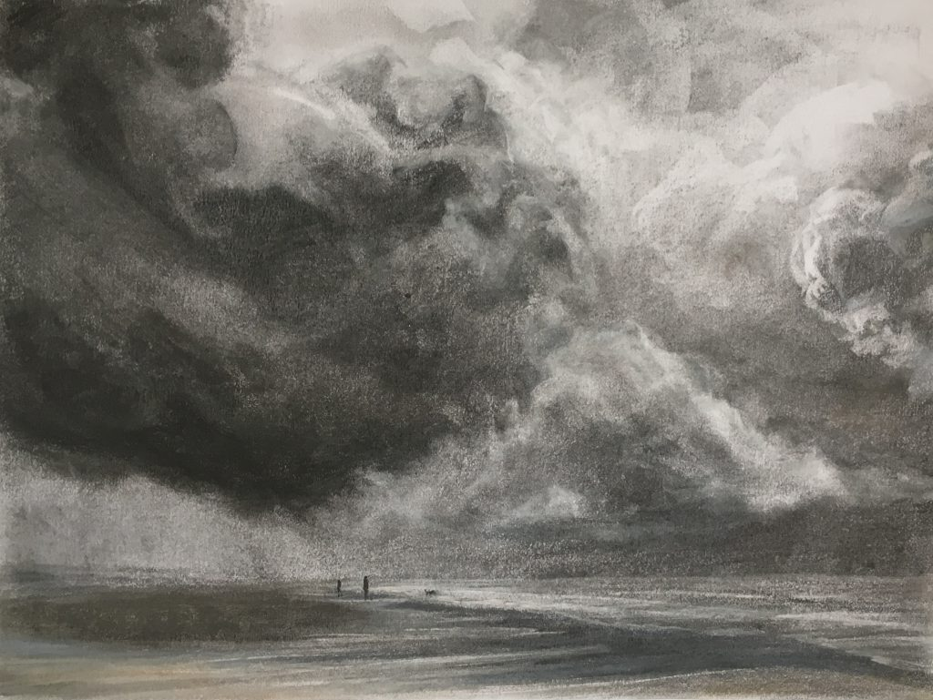 Under the Clouds study, pastel (40 x 50 cms)