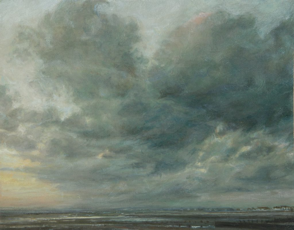 West Beach, Evening. Oil on panel. (37 x 43 cms)