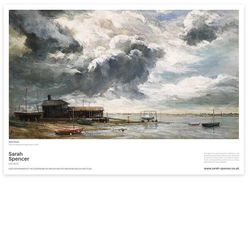 Boat House, Fine Art Poster